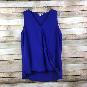 Pleione • Royal Blue Wrap Sleeveless Blouse